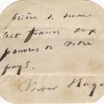 Notka Victora Hugo wzywająca do bycia hojnym wobec ubogich została wystawiona na sprzedaż