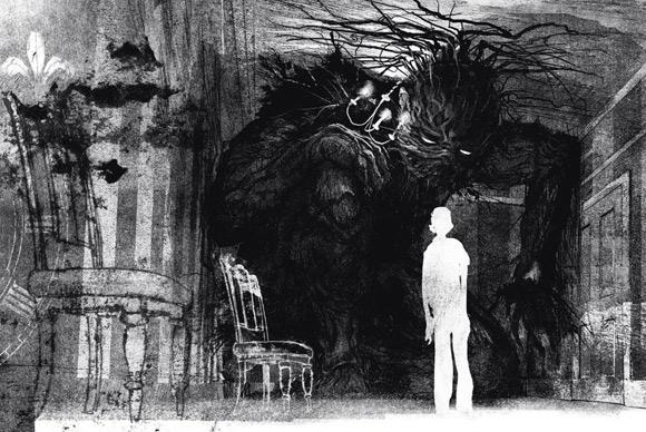 """Jedna z ilustracji Jima Kaya do powieści """"Siedem minut po północy""""."""