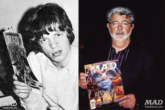 Mick Jagger i George Lucas.