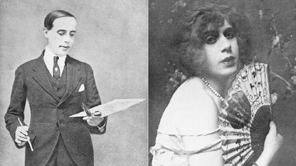 Prawdziwa Lili Elbe (po lewej jeszcze jako Einar Wegener).