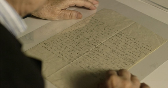 Quentin Blake czyta manuskrypt powiastki.