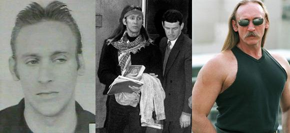 Na zdjęciu od lewej: (1) pierwsza odsiadka, (2) aresztowanie we Frankfurcie, (3) początek literackiej kariery.