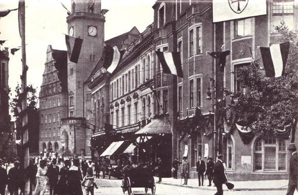 Deutsches Haus w Olsztynie, lata 20. ubiegłego wieku.