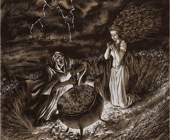 """""""Złoty garnek"""" (ilustracja: Fiodor Ionin)."""