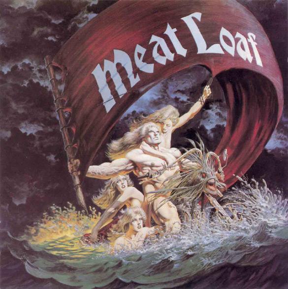 "Okładka Berniego Wrightsona do płyty Meat Loafa ""Dead Ringer""."