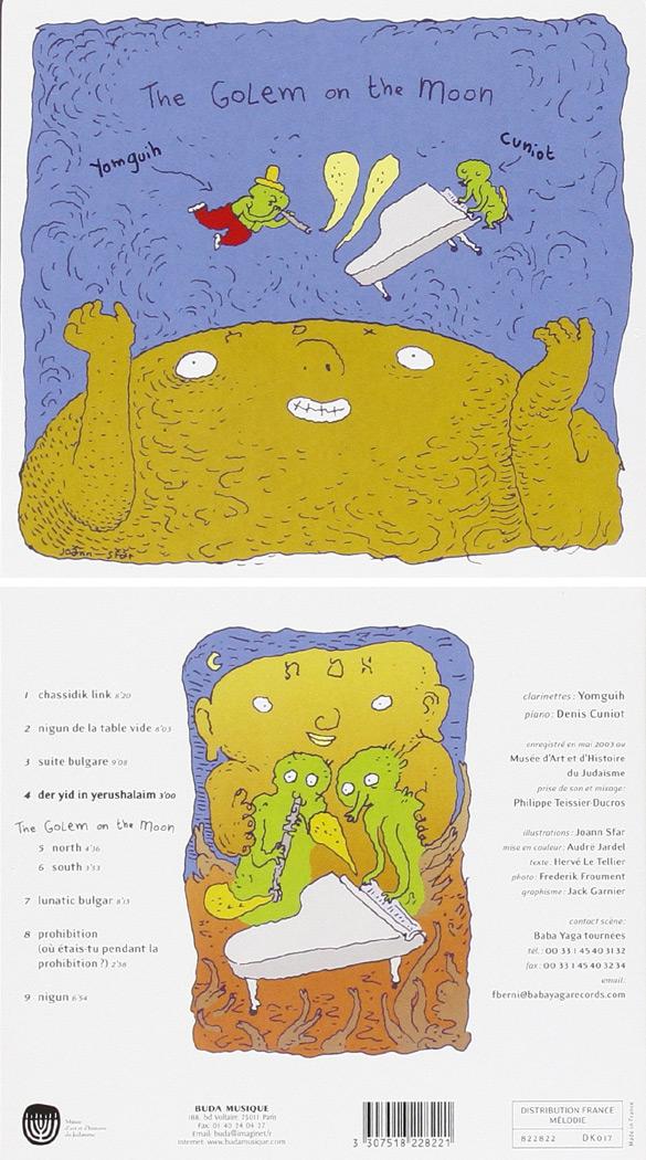 "Okładka Joanna Sfara do płyty projektu Yomguih & Cuniot ""The Golem on the moon""."