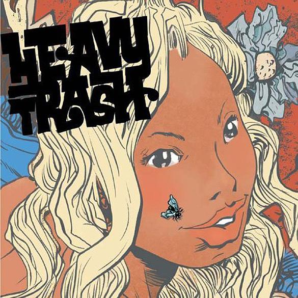 """Okładka Paula Pope'a do płyty Jona Spencera & Matta Verty-Raya """"Heavy Trash""""."""