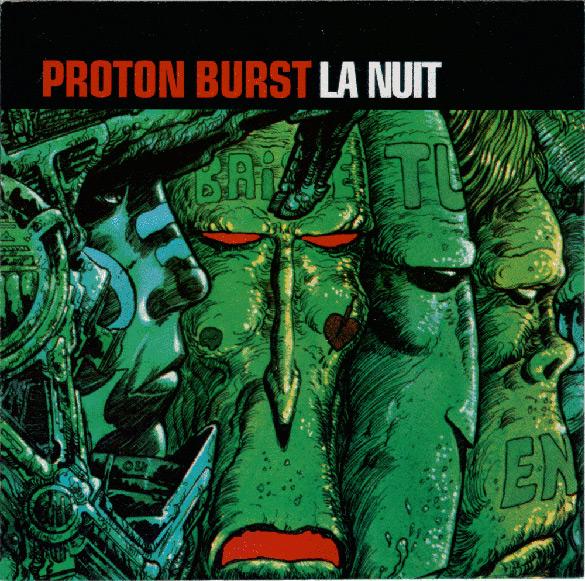 """Okładka Philippe Druilleta do płyty zespołu Proton Burst """"La Nuit""""."""