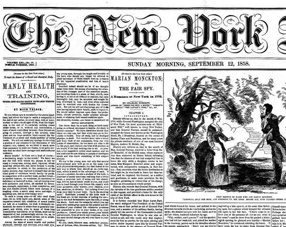 """Poradnik Whitmana """"Męskie zdrowie i ćwiczenia? na łamach """"The New York Atlas? z 1858 roku."""