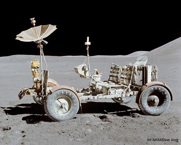 Pojazd LRV używany podczas wyprawy Apollo 15.