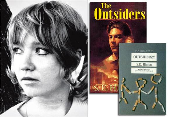 """Autorka Susan E. Hinton i jej powieść """"Outsiderzy""""."""
