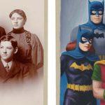 Przerabia osoby na starych fotografiach w bohaterów komiksowych i literackich