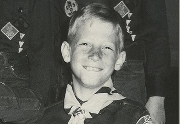 Młody Bill Gates.