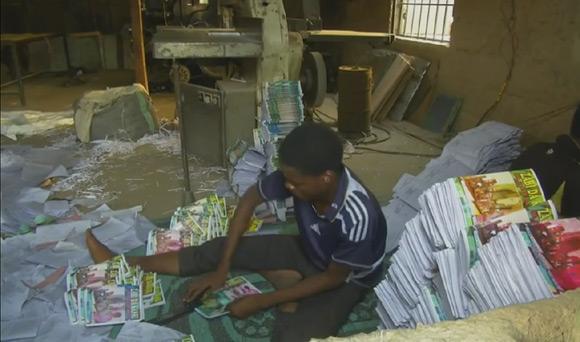 Produkcja książek w Kano (Nigeria).