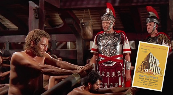 """""""Ben Hur"""" z 1959 roku z Charltonem Hestonem w roli głównej."""