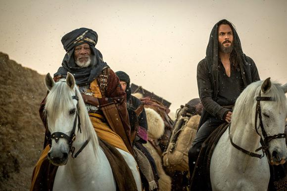Morgan Freeman (Ilderim) i Jack Huston (Judah Ben Hur) w nowej ekranizacji powieści w reżyserii Timura Bekmambetova.