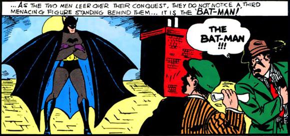"""Pierwszy występ Batmana w 27. zeszycie """"Detective Comics""""."""