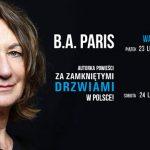 B. A. Paris przyjeżdża do Polski. Autorka spotka się z czytelnikami w Warszawie i Krakowie
