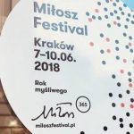 Dziś w Krakowie rusza Festiwal Miłosza 2018