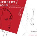 Wystawa wierszy i rysunków Zbigniewa Herberta w Galerii Plenerowej w warszawskich Łazienkach
