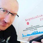 """""""Skaza"""" Roberta Małeckiego uznana najlepszym polskim kryminałem miejskim 2018 roku"""