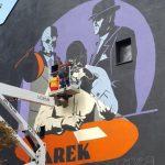 We Wrocławiu powstaje mural z wizerunkiem Marka Krajewskiego