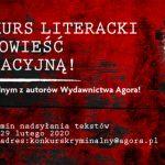 Wydawnictwo Agora ogłasza konkurs literacki na powieść sensacyjną