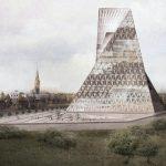 Wieża książek w Warszawie. Projekt zagranicznych architektów na nowoczesną bibliotekę w stolicy